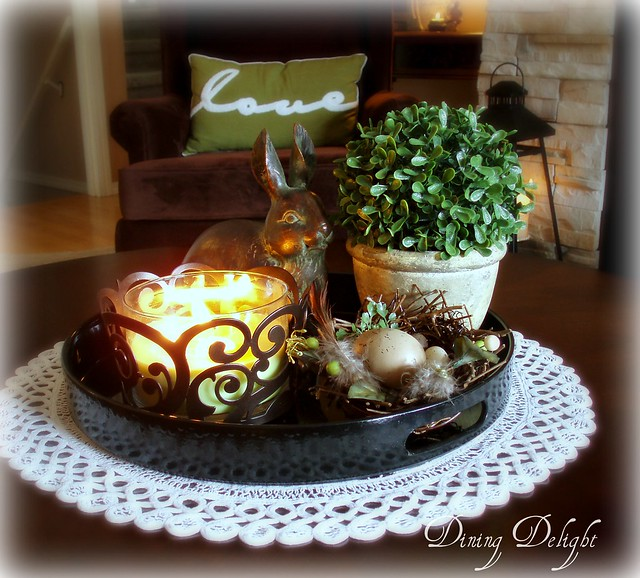 Tray Coffee Table Makeover: Dining Delight: Easter And Spring Decor 2014