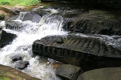 travel cambodia southeastasia stonecarvings kbalspean archeologicalsite sandstoneformations siemreapprovince