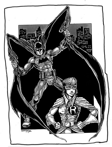"""Dark Knight"" .. pin-up art by Kevin Eastman (( 1985 ))"
