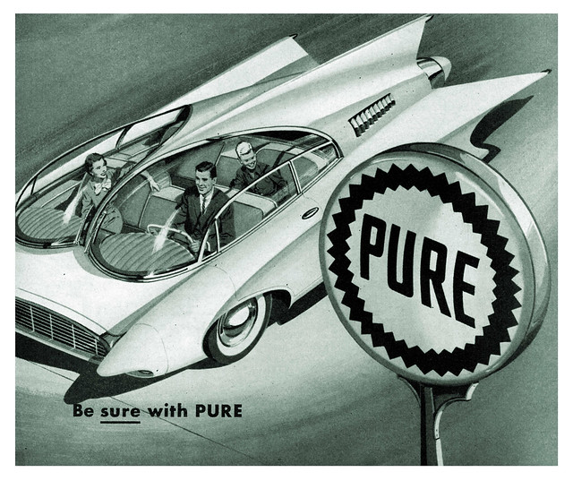 Pure Oil Company ad detail - 1957