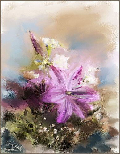 Image of some pretty Easter Flowers painted in Corel Painter