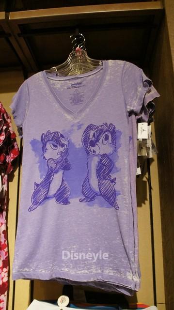 WDWのチップとデールTシャツ