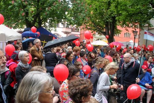 Hebammen-und Elternprotest Freiburg