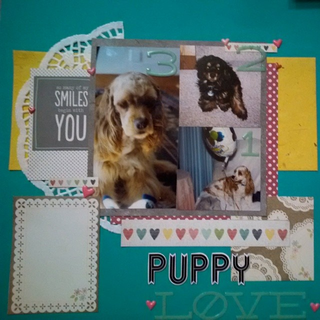 Scrapbook layout that acts as a story opener for my three dogs that I've owned in my life