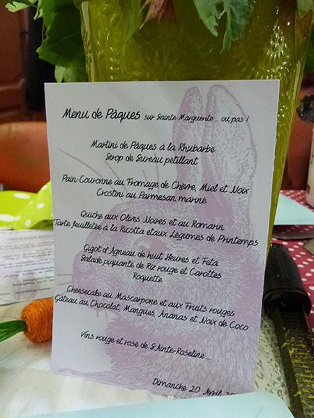 menu papier