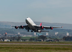G-VROY Virgin Atlantic Boeing 747-443 Glasgow airport  190414...