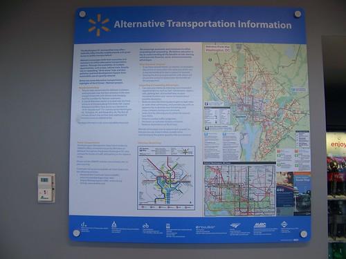 Alternative information sign, Walmart store, H Street NW, Washington, DC
