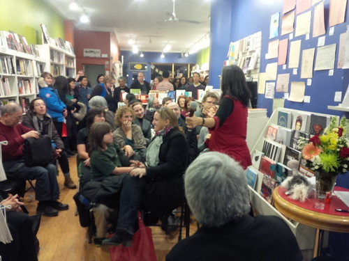 The standing-room-only crowd at Tamai Kobayashi's Toronto launch of PRAIRIE OSTRICH