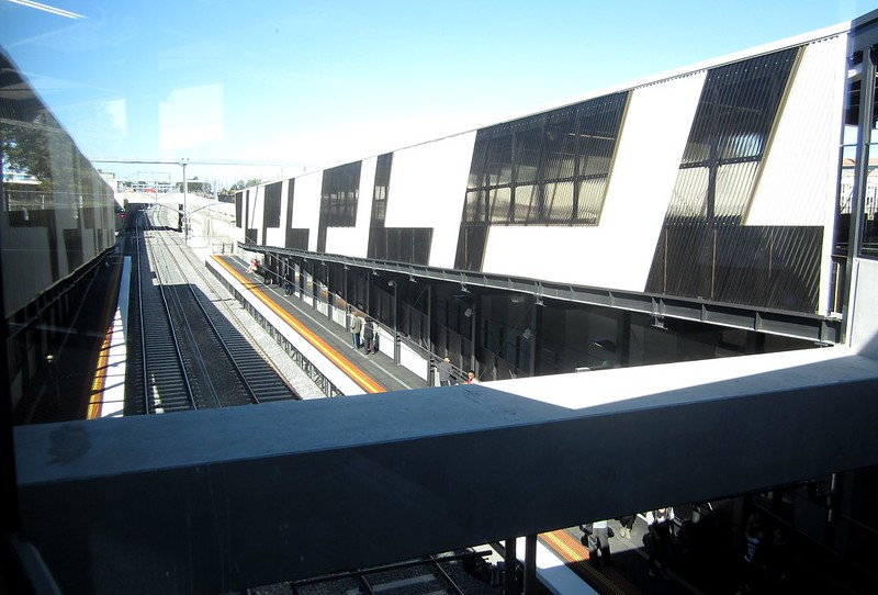 Ramps, new Springvale station, April 2014