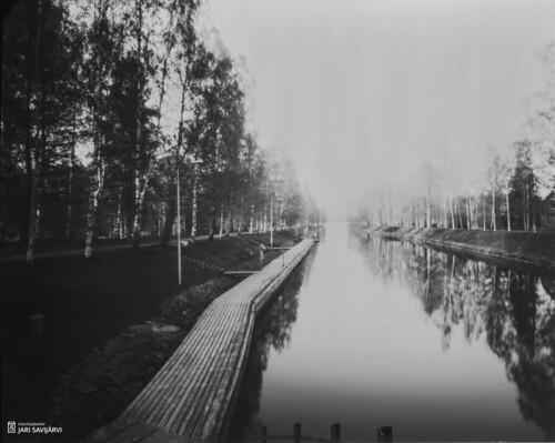 canal maisema vääksy järvi päijänne kevät 4x5lithsheet diy4x5pinhole037