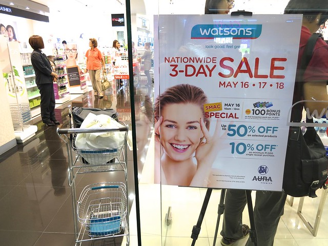 Watsons 3-day sale