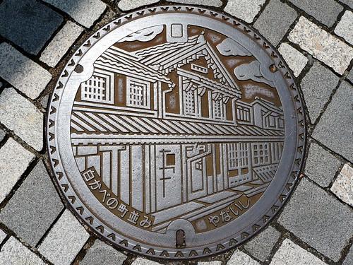 Yanai yamaguchi, manhole cover 2 (山口県柳井市のマンホール2)
