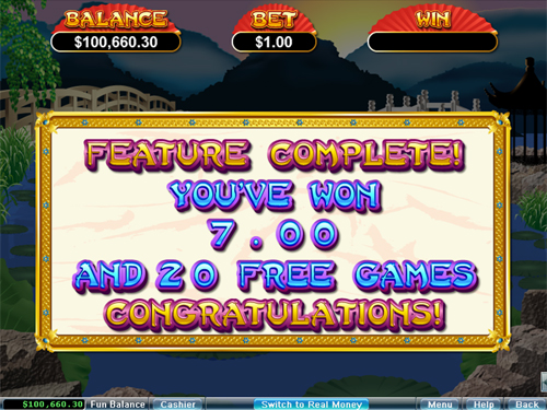 free Golden Lotus bonus game prize