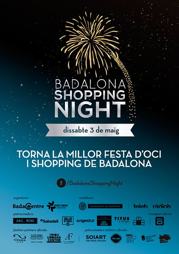 CARTEL BADALONA SHOPPING NIGHT