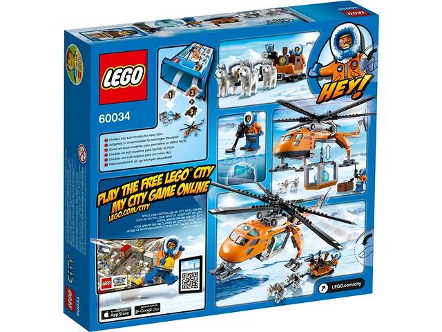 LEGO City 60034 - Arktis-Helikopter mit Hundeschlitten