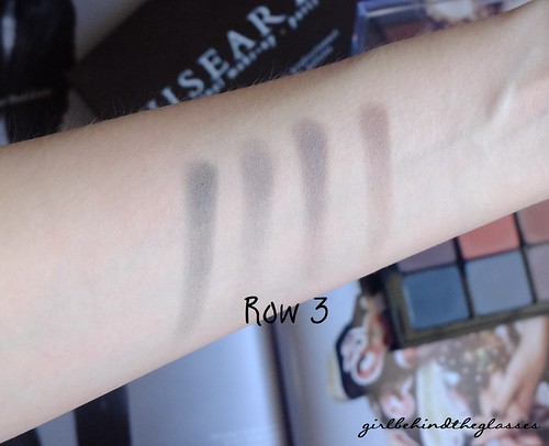 Viseart Neutral Matte Palette Row3 swatches