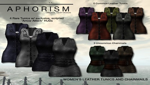 !APHORISM! Women's Leather & Chainmail Tunics