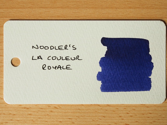 Noodler's La Couleur Royale - Ink Review - Word Card