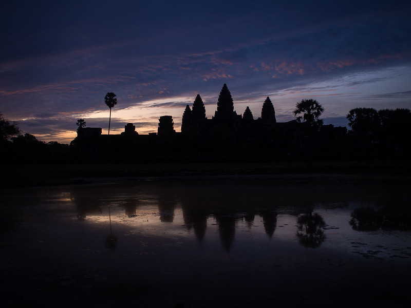 Reflection pool at Angkor Wat
