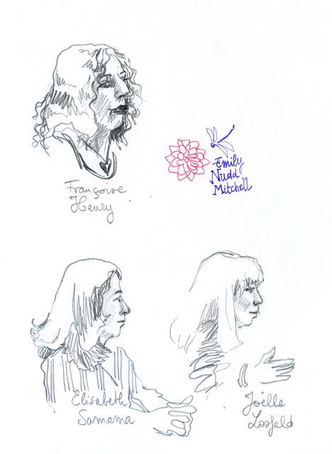 Paris SGDL - L'auteur F. Henry, les éditrices E. Samama et J. Losfeld