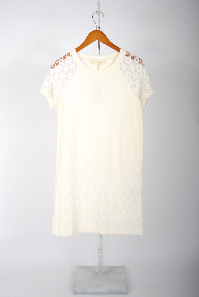 Boucle and Lace Dress