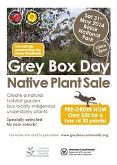 Grey Box Day Native Plant Sale 2014 - www.greyboxcommunity.org