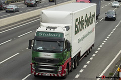 Volvo FH 6x2 Tractor with 3 Axle Box Trailer - PX10 DJO - H4498 - Ava Minnie - Eddie Stobart - M1 J10 Luton - Steven Gray - IMG_5234