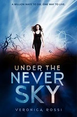 Under the Never Sky by Veronica Rossi book cover.