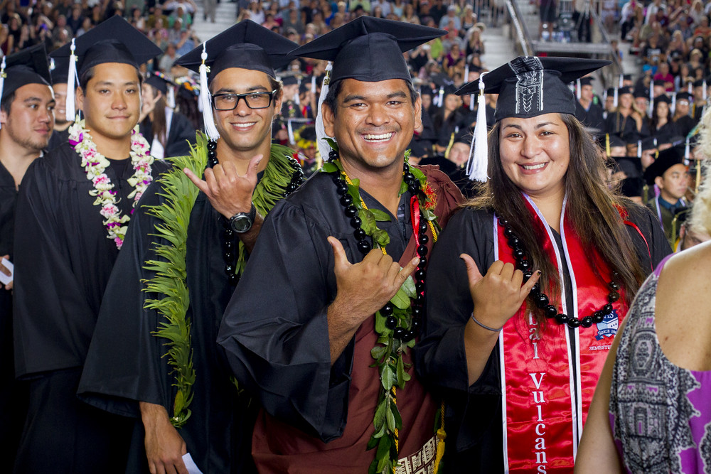 "<p>The University of Hawaii at Hilo celebrated 2014 Spring Commencement on May 17 at the Edith Kanakaole Stadium. This semester, students petitioned for a total of 724 degrees and/or certificates. For more photos go to <a href=""https://www.flickr.com/photos/donaldstraney/sets/72157644356533140/"">www.flickr.com/photos/donaldstraney/sets/72157644356533140/</a></p>"