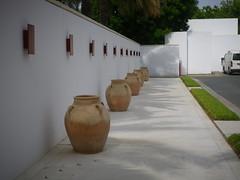 Clay pots, The Chedi Hotel
