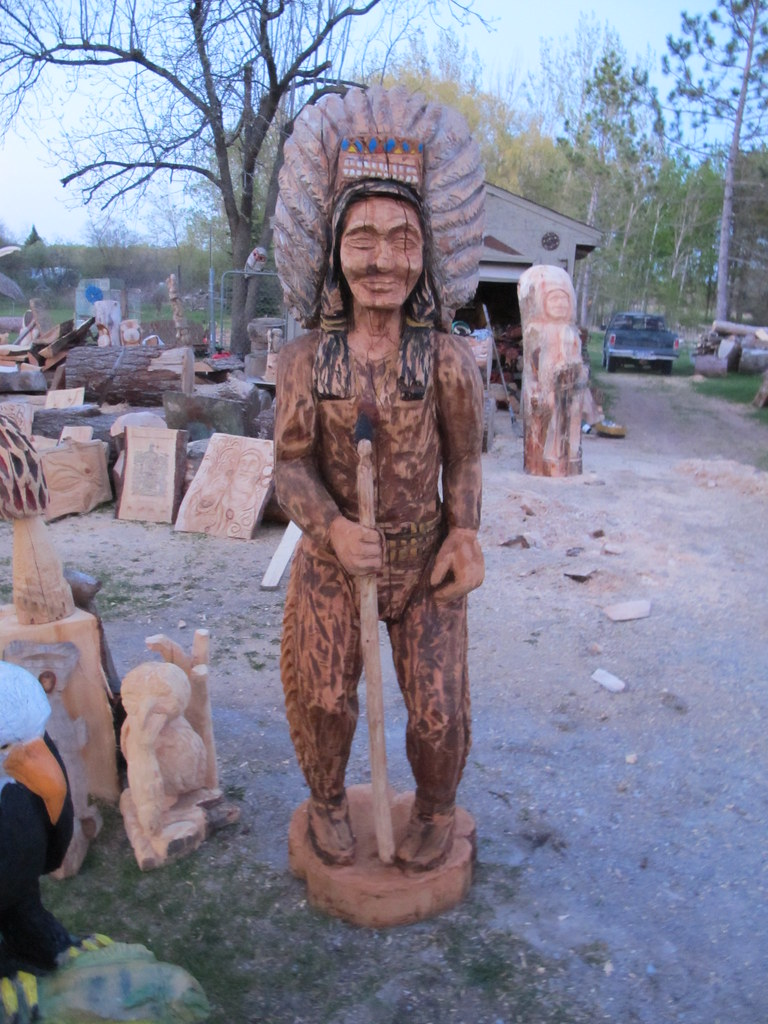 World wide chain saw carving amp art forum native american statue