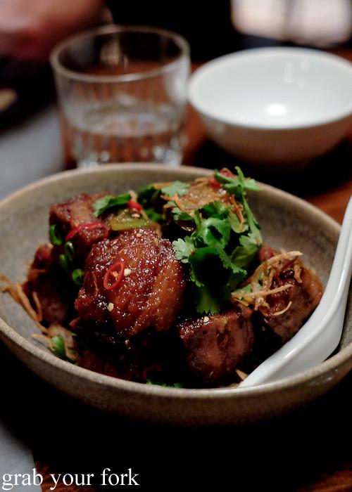 Sweet and sour crispy pork hock at Mr Wong, Sydney