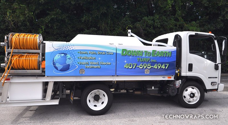 Spray truck graphics wrap by TechnoSigns in Orlando