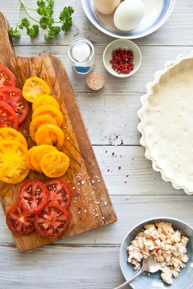 Tomato Tart Prep