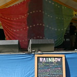 On deck at the Rainbow Stage - Saturday at the Clearwater Hudson River Revival. Photo by Gus Philippas