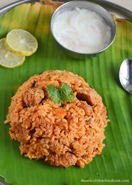 Ambur Biryani recipe with soya chunks