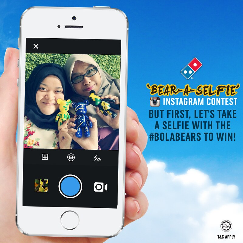 dominos selfies contest1