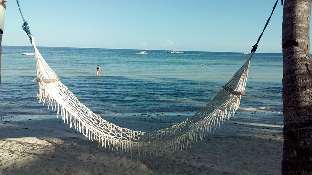 CAPTURED BY KATA M1. View of the serene and pristine beach from the hammock.