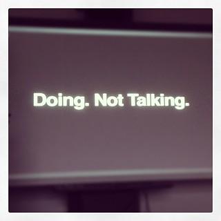 Doing, Not Talking - #ggovjam #xjamgov