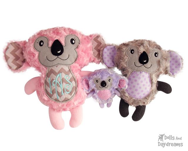 Koala bear in the hoop ITH embroidery machine pattern