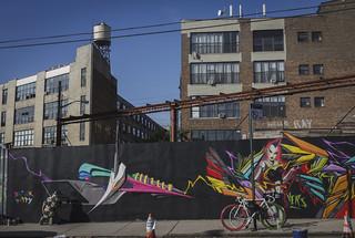 Adam Fujita mural at Bushwick Open Studios 2014