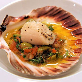Baked Scallops, Sauce Vierge IMG_1043  R