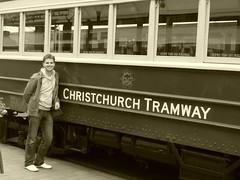 Christchurch Trams - Old school tram in old school New Regent Street