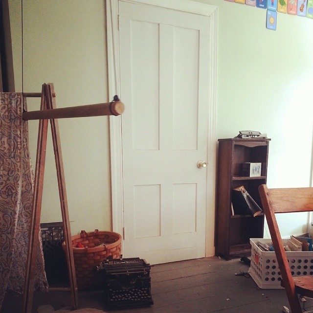 Hmmm...the logistics of turning a door into a #bookcase. #weekendproject #DIY