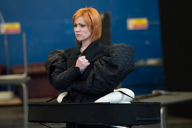 Carmen Giannattasio in rehearsals for Maria Stuarda © ROH/Bill Cooper, 2014