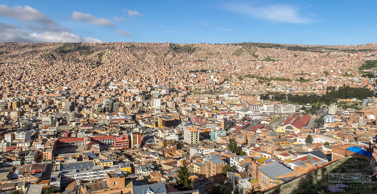 The craziness that is, La Paz, from above.