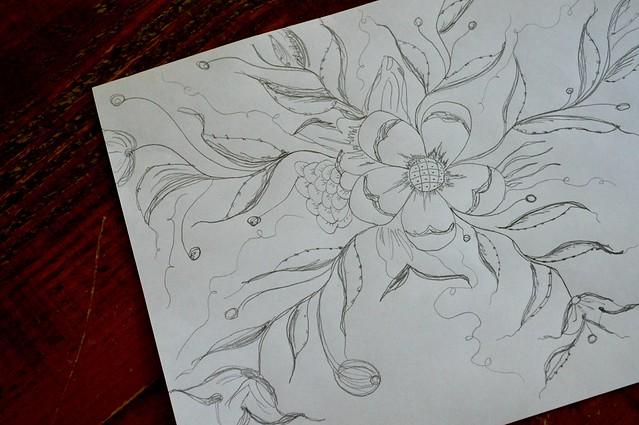 Rosemaling drawing