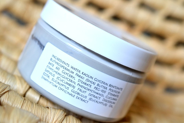Refresh Natural Skincare masque ingredients