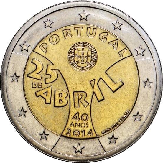 2 Euro Portugalsko 2014, Karafiátová revolúcia