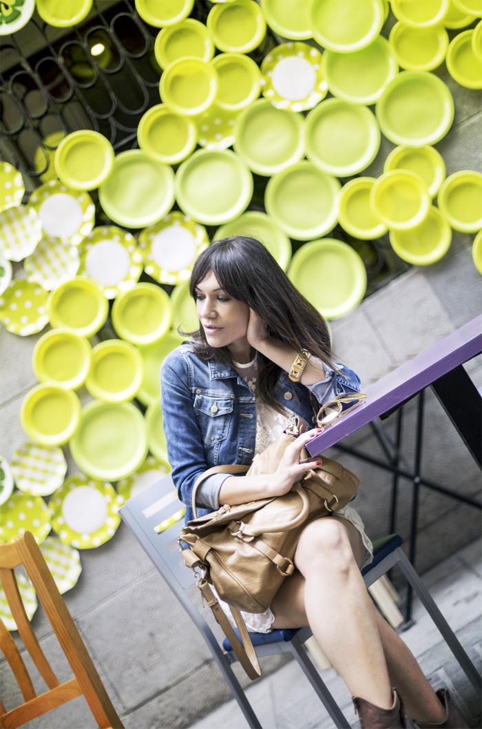 street style barbara crespo shirt dress inlace front row shop fashion blogger outfit blog de moda
